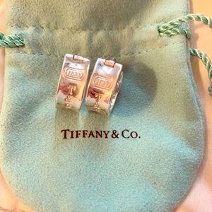 Authentic Vintage Tiffany & Co. wide hoop earrings